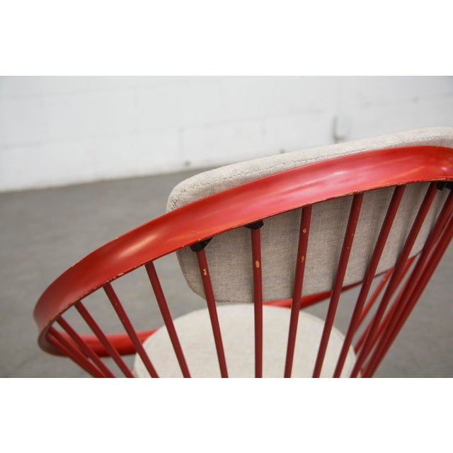 Swedish Red Hoop Lounge Chair - Image 9 of 11