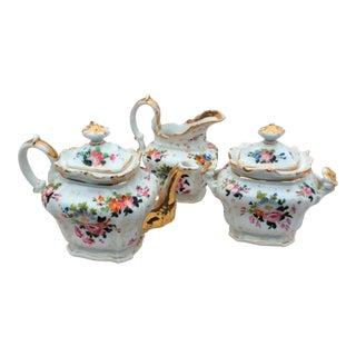 Old Paris Porcelain Tea Set - Set of 3