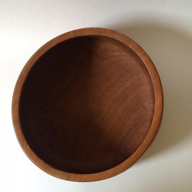Danish Modern Mid-Century Teak Wood Bowl by Kalmar - Image 4 of 5