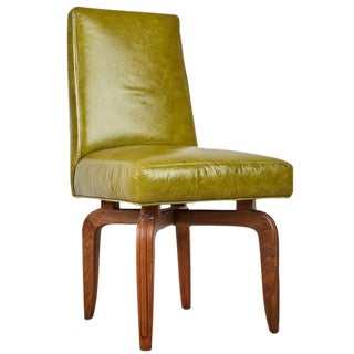 Maurice Bailey for Monteverdi-Young Leather & Walnut Side Chair
