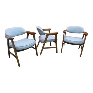 Vintage Hon Mid-Century Armchairs - Set of 3