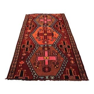 Vintage Anatolian Handwoven Kilim Rug - 4′5″ × 7′7″