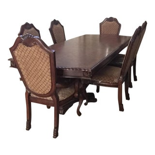 Baroque Style Wooden Dining Suite- 7 Pieces