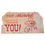 Image of Vintage 1950s Hand-Painted Carnival Sign