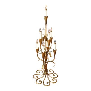 Gilded Ornate Table Top Chandlelier