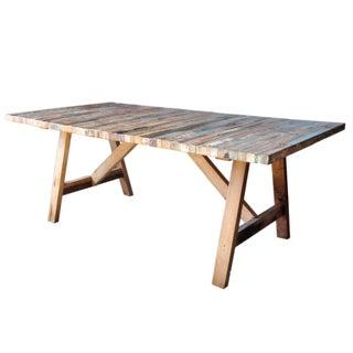Salvaged Wood Balinese Trestle Table II