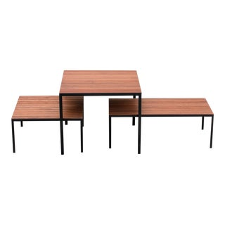 Vintage Midcentury modern Knoll Trio of VKG-Inspired Indoor/Outdoor Tables