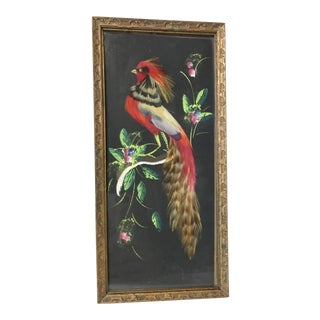 Vintage Mexican Folk Art Bird Artwork