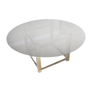 Glass and Brass Coffee Table Base