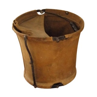 Vintage Canvas Army Bucket
