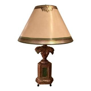 Vintage Designer Giltwood Table Lamp & Custom Shade