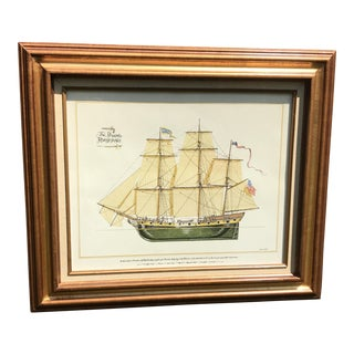 'The Privateer Rattlesnake' Nautical Chromolithograph