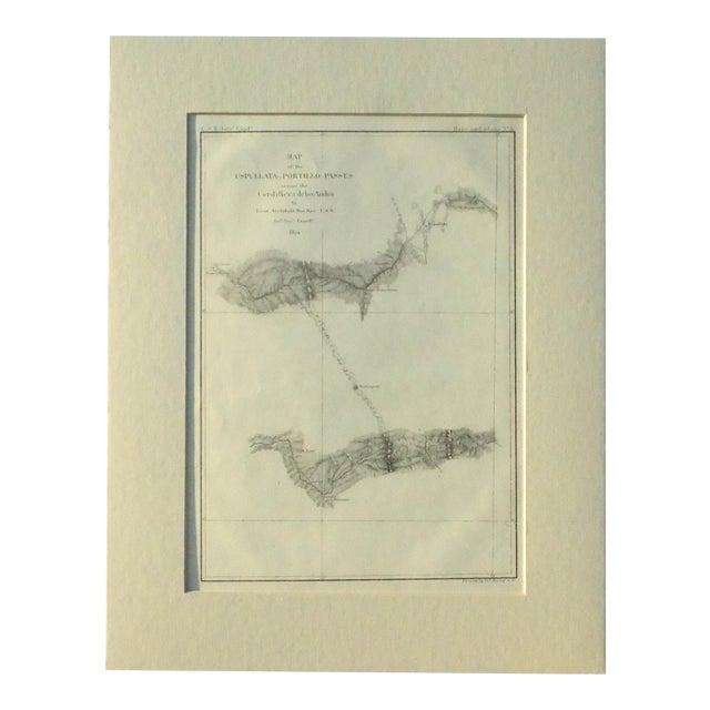 Santiago, Chili Uspullata & Portillo Passes, 1855 Map - Image 1 of 8