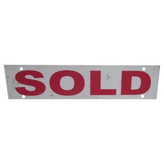 "Vintage Industrial ""Sold"" Sign"