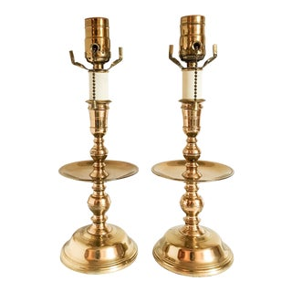 Virginia Metalcrafters Solid Brass Accent Lamps - A Pair