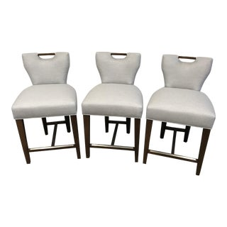 Charles Stewart Upholstered Counter Stools - Set of 3