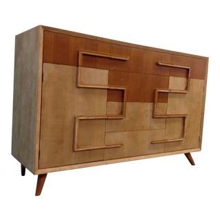 Mid-Century Wood Cabinet Dresser