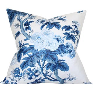 Pyne Hollyhock Indigo Pillow Cover 20""