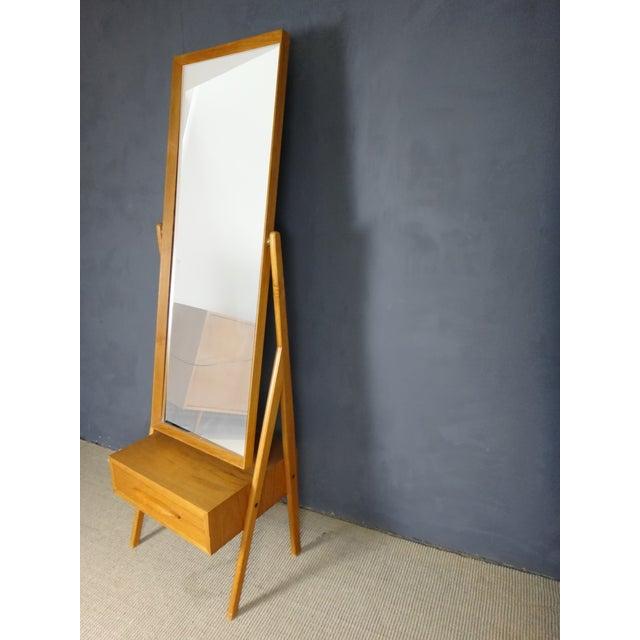 Mid Century Arne Vodder Cheval Mirror - Image 3 of 5
