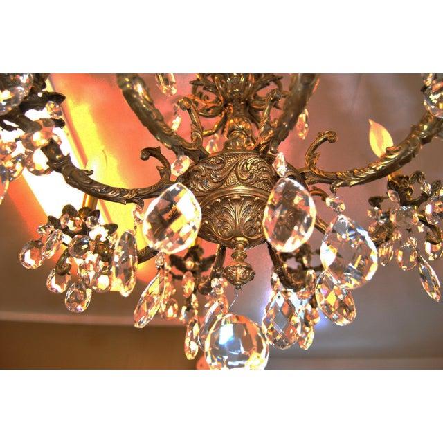 Antique Brass Chandelier - Image 3 of 4