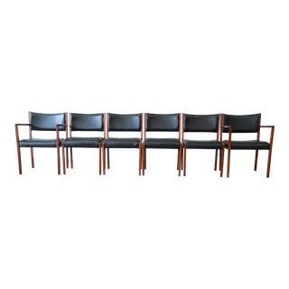 Jens Risom Walnut Dining Chairs - Set of 6