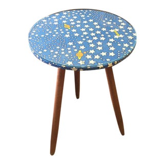 Mid-Century Atomic Circular Side Table