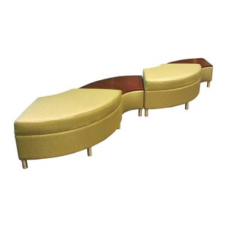 Darran Radius Curved Upholstered Lounge Bench