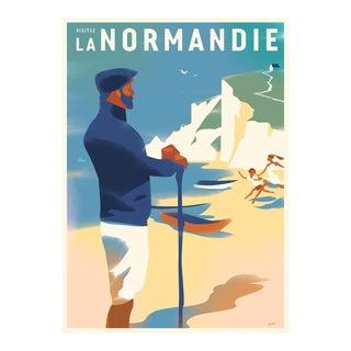 Danish Modern Travel Poster, Visitez Normandie