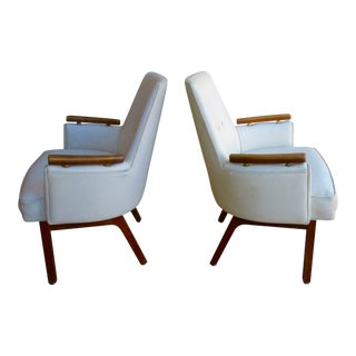 Vista Mid-Century Club Chairs - A Pair