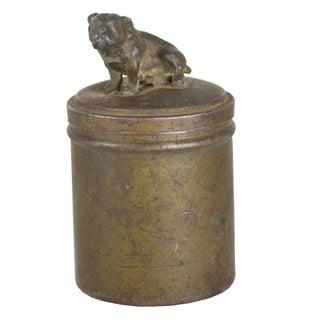 Vintage English Bulldog Petite Brass Covered Box