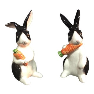 Fitz and Floyd Kensington Rabbit Salt & Pepper Shaker