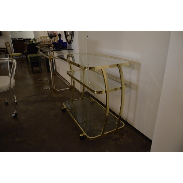 DIA Three-Tier Brass and Glass Bar, Drinks, Tea or Service Cart /Trolley - Image 2 of 11