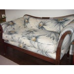 Image of Traditional Settees with Floral Upholstery - A Pair