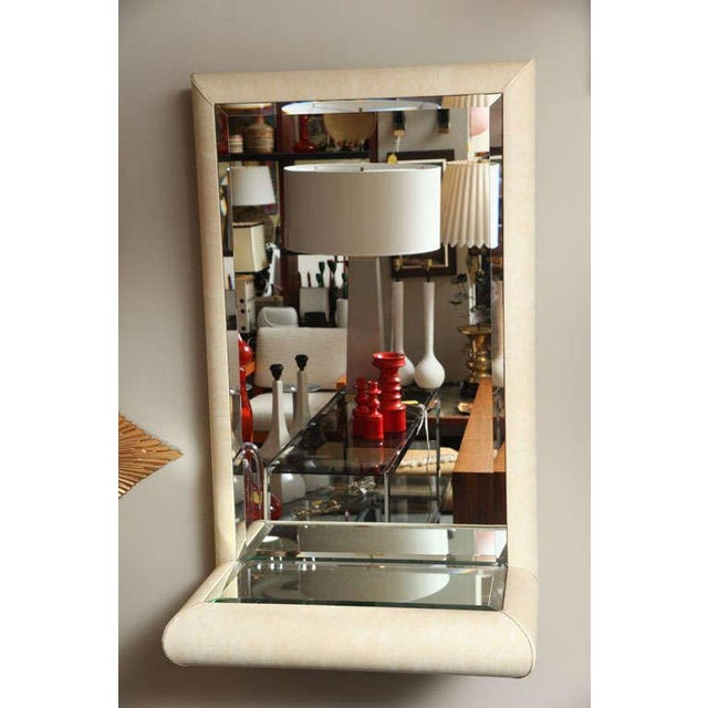 Springer Style Mirror Console in Faux Lizard by Jaru, California - Image 4 of 11
