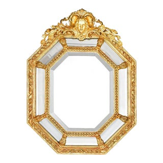 Louis XVI-Stye French Giltwood Cushion Mirror