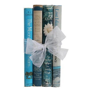 Retro Book Gift Set: Novels in Blue & White, 4