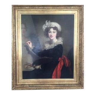 "After Elizabeth Louise Vigee Le Brun, ""Self Portrait"""