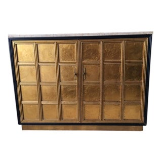 Hollywood Regency Gold Gilt Marble Top Console