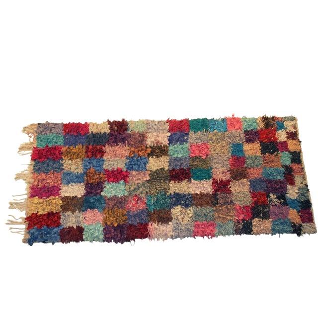 """Vintage Boucherouite Rag Rug - 7'4"""" X 3'5"""" - Image 1 of 3"""
