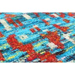 Image of Sari Silk Hand-Knotted Blue & Red Rug - 8' x 10'