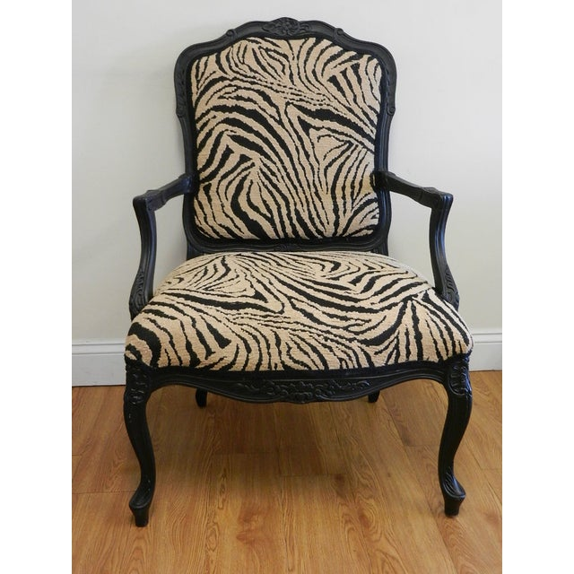 Louis XIV French Provincial Occasional Chair - Image 3 of 7