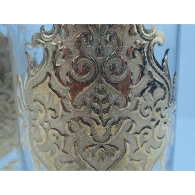 Hollywood Regency Gold Gilt Hi Ball Glasses - S/7 - Image 6 of 6