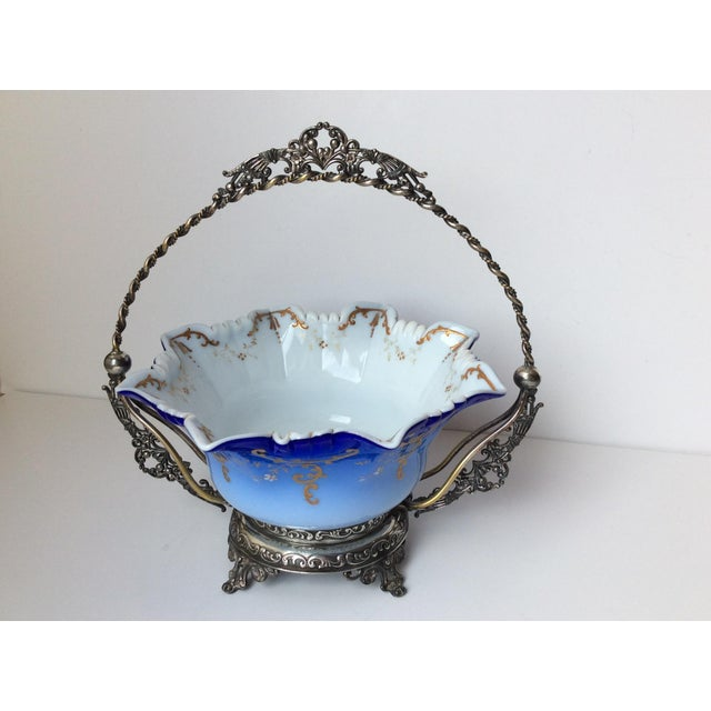 Image of Wilcox Silver Victorian Brides Basket