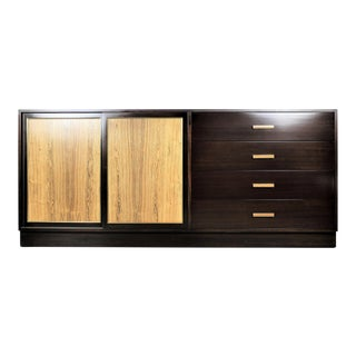 Harvey Probber Dark Mahogany and Rosewood Dresser