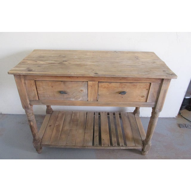 Primitive Pine Console Table - Image 3 of 6