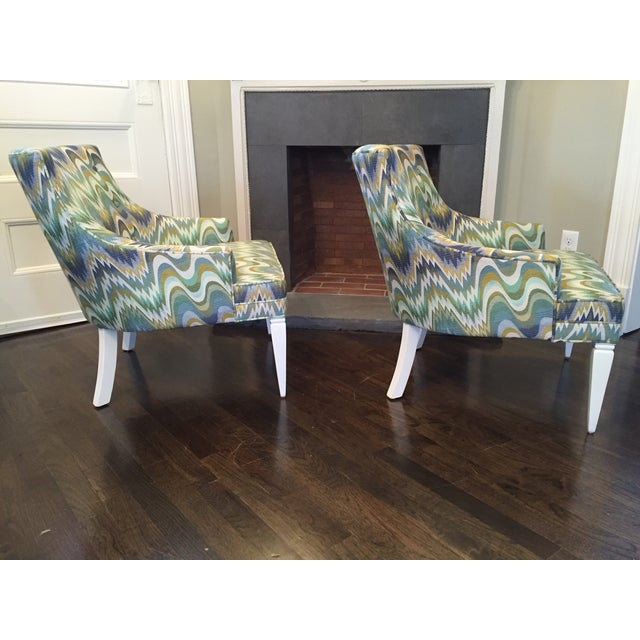 Jonathan Adler Haines Chairs - A Pair - Image 5 of 11