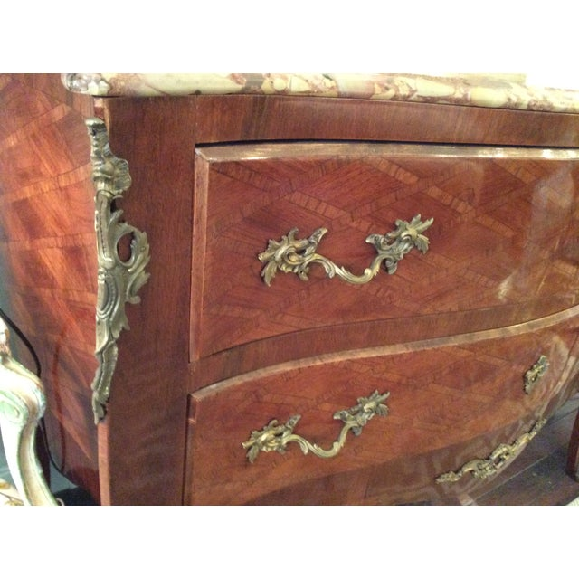 Louis XV Style Parquetry Commode - Image 3 of 8