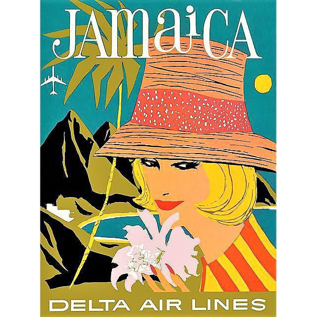 Vintage Reproduction Jamaica Travel Poster - Image 1 of 3