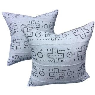African Tribal Mud Cloth Pillows - A Pair