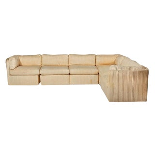 MILO BAUGHMAN SCALLOPED-BACK SECTIONAL SOFA